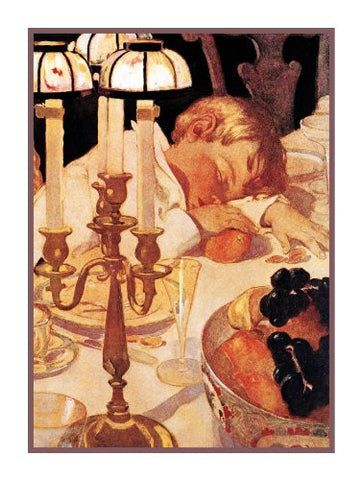 Falling Asleep After Listning to a Fairytale By Jessie Willcox Smith Counted Cross Stitch Pattern