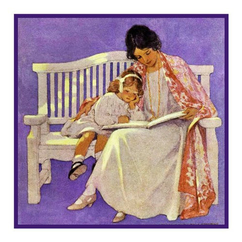 Enjoying a Story With Mama By Jessie Willcox Smith Counted Cross Stitch Pattern