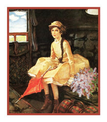 Rebecca of Sunnybrook Farm By Jessie Willcox Smith Counted Cross Stitch or Counted Needlepoint Pattern