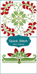 Art Nouveau Designs #3 Quick Stitch Flower 2 Counted Cross Stitch or 2 Counted Needlepoint Patterns
