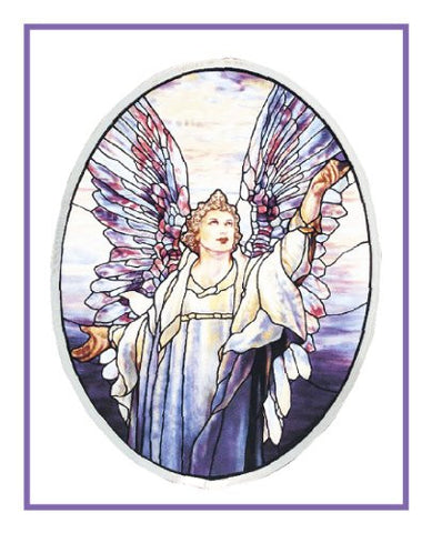 Angel of Peace inspired by the work Louis Comfort Tiffany Counted Cross Stitch Pattern