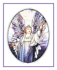 Angel of Peace inspired by the work Louis Comfort Tiffany Counted Cross Stitch  Pattern - Orenco Originals LLC