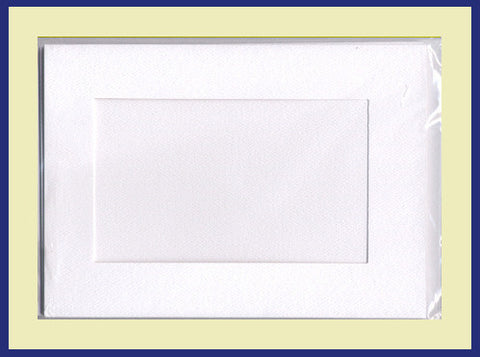 SMALL NEEDLEWORK CARDS. RECTANGULAR OPENING...Ivory