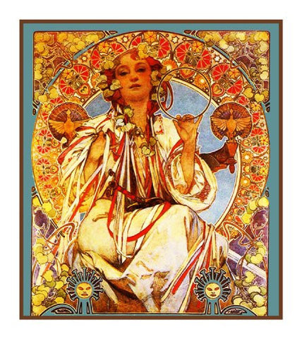 Slav Epic Detail by Alphonse Mucha Counted Cross Stitch Pattern
