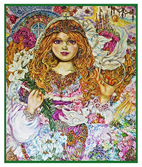 Angel of the Archangel Gabriel inspired by Yumi Sugai Counted Cross Stitch  Pattern - Orenco Originals LLC
