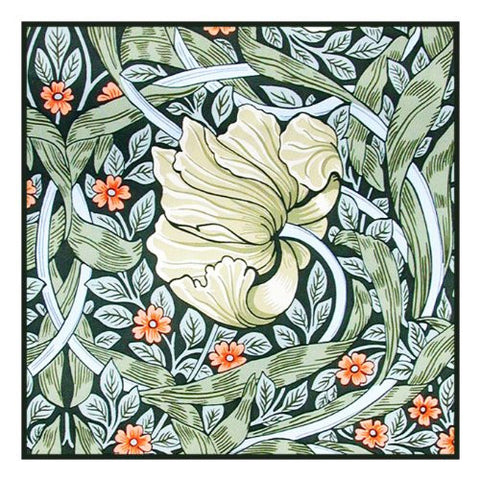 Pimpernel by Arts and Crafts Movement Founder William Morris Counted Cross Stitch Pattern