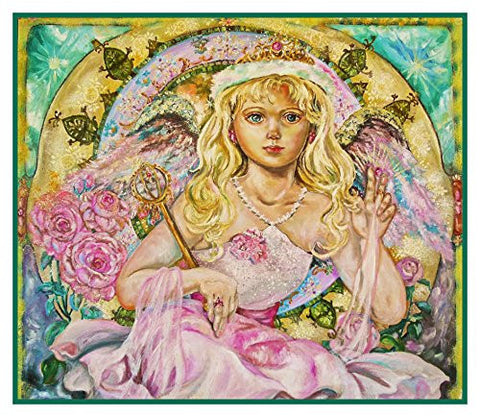 Angel of the Pink Saphire inspired by Yumi Sugai Counted Cross Stitch Pattern