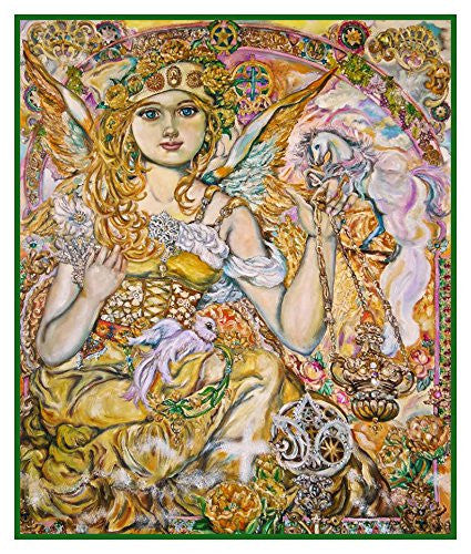 Angel of the Jewels inspired by Yumi Sugai Counted Cross Stitch or Counted Needlepoint Pattern - Orenco Originals LLC