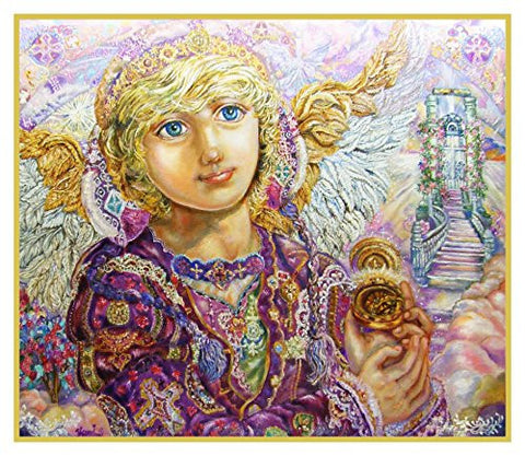 Guardian Angel Gabriel inspired by Yumi Sugai Counted Cross Stitch or Counted Needlepoint Pattern
