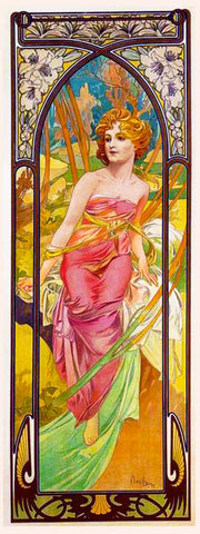 Morning Awakening by Alphonse Mucha Counted Cross Stitch Pattern DIGITAL DOWNLOAD
