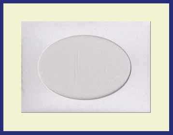 SMALL NEEDLEWORK CARDS. OVAL OPENING....... White