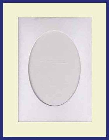 LARGE NEEDLEWORK CARDS. OVAL OPENING.......WHITE