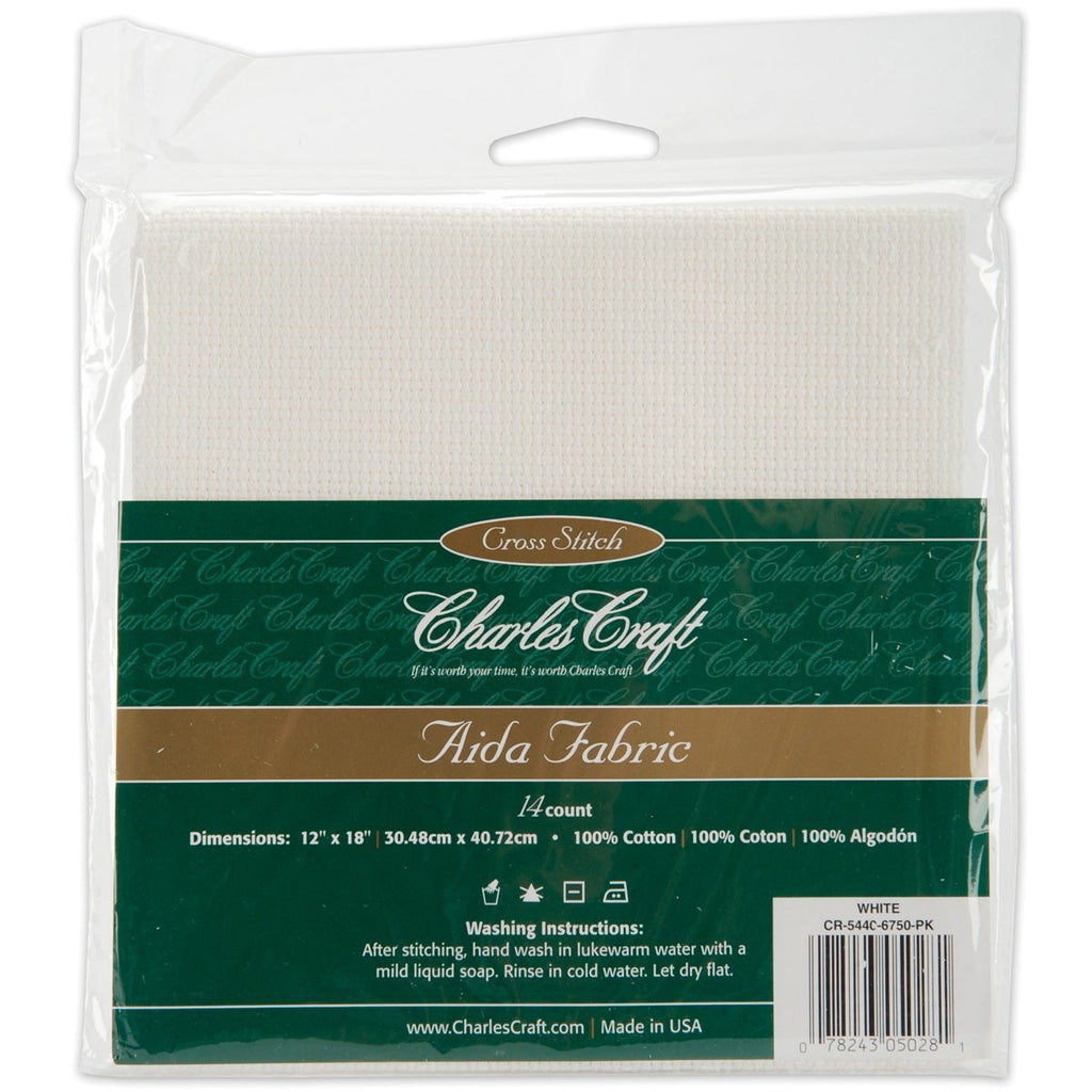 Charles Craft Gold Standard Aida Cloth 14 Count White 14-count Aida 12???????? x 18???????? - Orenco Originals LLC