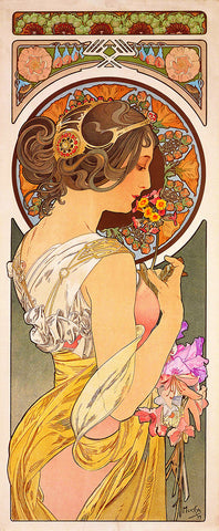 Primrose by Alphonse Mucha Counted Cross Stitch Pattern
