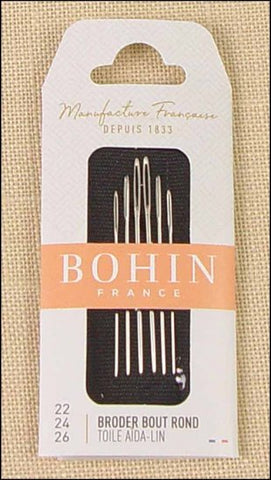 Bohin Tapestry Needles- sizes 22, 24, 26