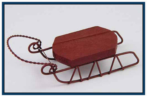 SMALL SLED ORNAMENTS