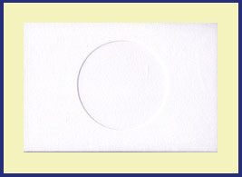 SMALL NEEDLEWORK CARDS. ROUND OPENING...White