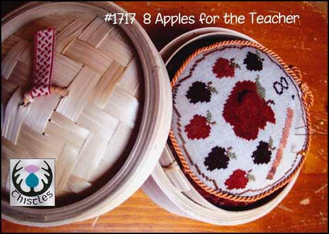 8 Apples For The Teacher by Thistles Counted Cross Stitch Pattern