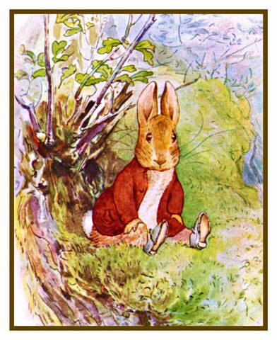 Benjamin Rabbit in the Woods inspired by Beatrix Potter Counted Cross Stitch Pattern
