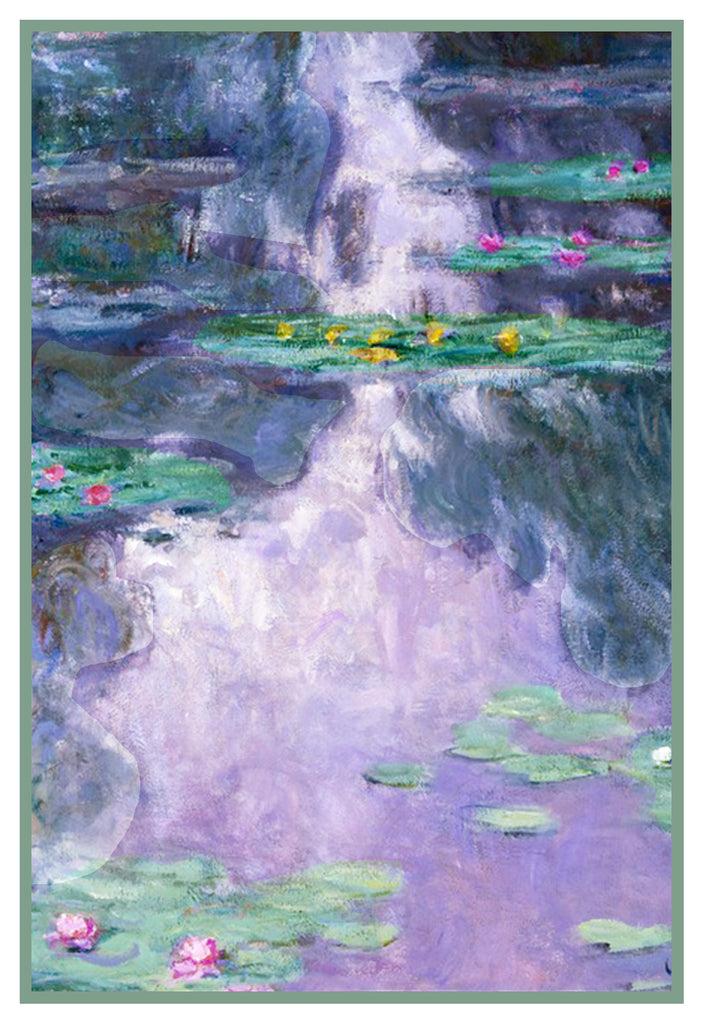 Water Lilies 1909 inspired by Claude Monet's impressionist painting Counted Cross Stitch or Counted Needlepoint Pattern
