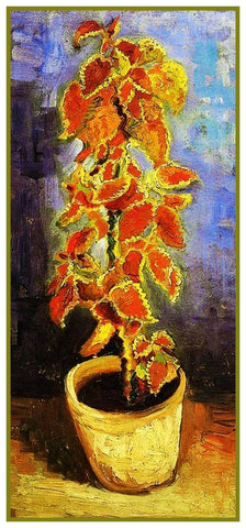 A Coleus Plant by Vincent Van Gogh Counted Cross Stitch Pattern