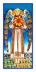 Medieval Angel Sun detail by William Morris Counted Cross Stitch Pattern