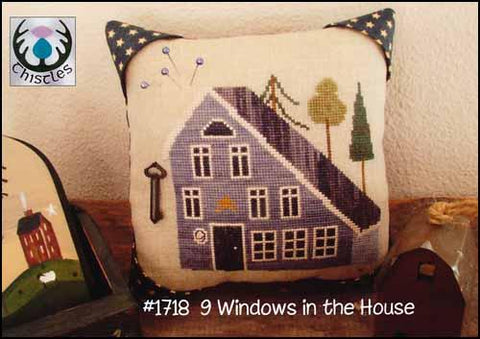 9 Windows In The House by Thistles Counted Cross Stitch Pattern