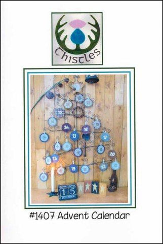 Advent Calendar by Thistles Counted Cross Stitch Pattern