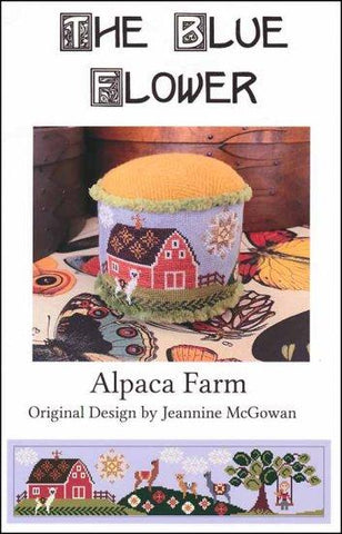 Alpaca Farm by The Blue Flower Counted Cross Stitch Pattern
