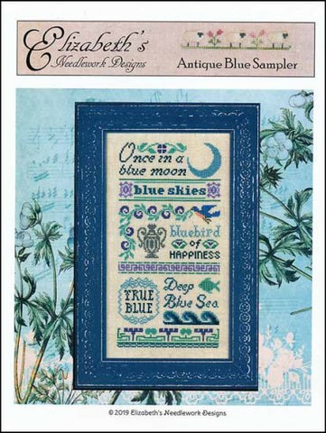 Antique Blue Sampler by Elizabeth's Needlework Designs Counted Cross Stitch Pattern