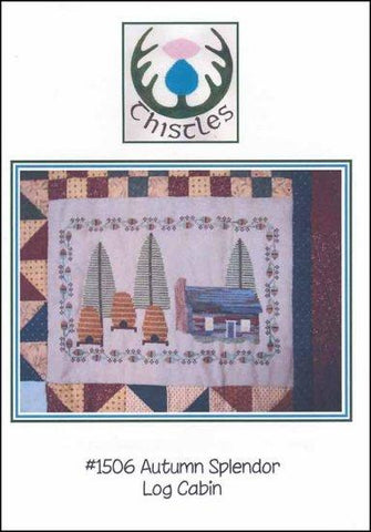 Autumn Splendor: Log Cabin by Thistles Counted Cross Stitch Pattern