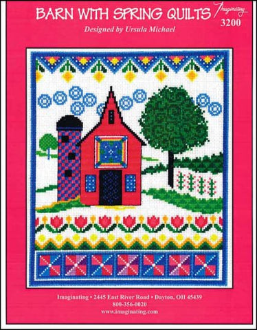 Barn With Spring Quilts by Imaginating Counted Cross Stitch Pattern