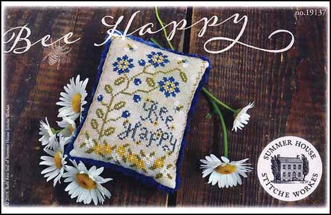 Bee Happy By Summer House Stitche Workes Counted Cross Stitch Pattern