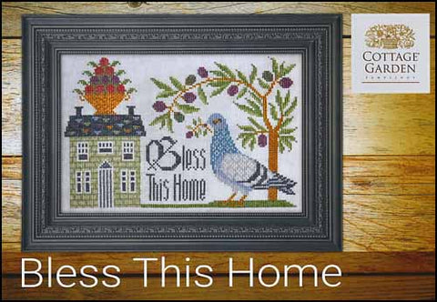 Bless This Home by Cottage Garden Samplings Counted Cross Stitch Pattern