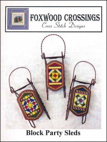 Block Party Sleds by Foxwood Crossings Counted Cross Stitch Pattern