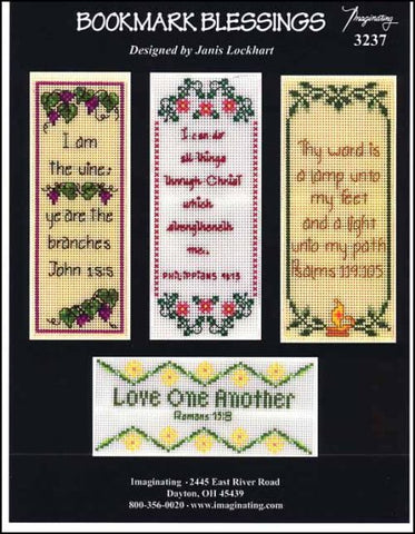 Bookmark Blessings by Imaginating Counted Cross Stitch Pattern