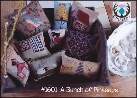 Bunch Of Pinkeeps by Thistles Counted Cross Stitch Pattern