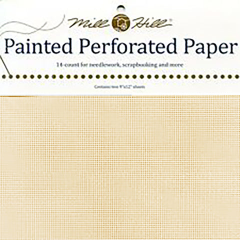 BUTTER CREAM MILL HILL PERFORATED PAPER Two 9