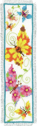 Butterflies Flapping II Bookmark by Vervaco Counted Cross Stitch Kit 2.5
