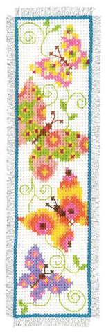 Butterflies Flapping I Bookmark by Vervaco Counted Cross Stitch Kit 2.5