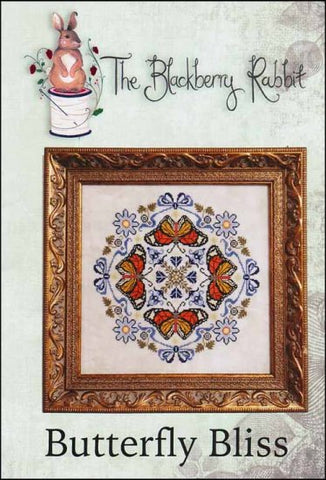 Butterfly Bliss By The Blackberry Rabbit Counted Cross Stitch Pattern