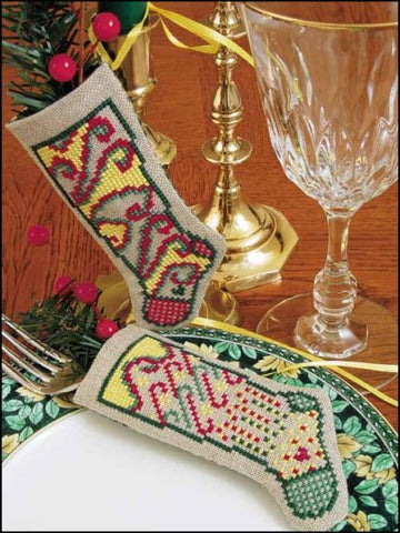 Linen Stocking Ornament Kit. CELEBRATE