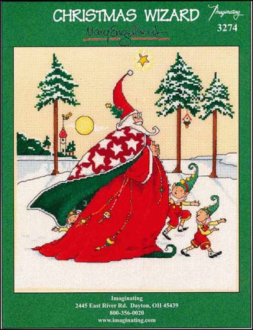 Christmas Wizard by Imaginating Counted Cross Stitch Pattern
