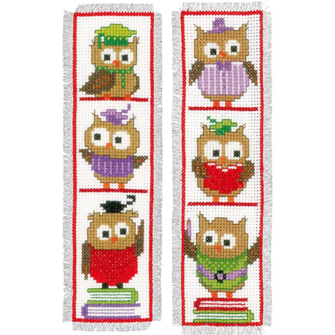 Clever Owls Vervaco Bookmark Counted Cross Stitch Kit 2.5