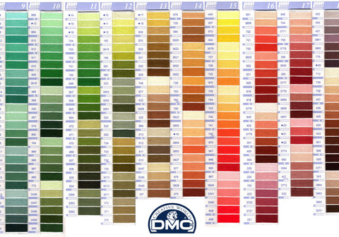 DMC Needlework Floss Threads Color Card-Real Thread Samples+ 35 new DMC Colors
