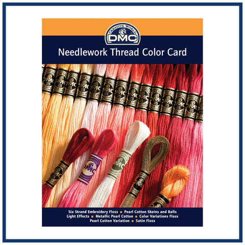 DMC Needlework Floss Threads Color Card