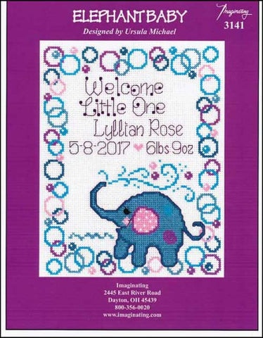 Elephant Baby by Imaginating Counted Cross Stitch Pattern