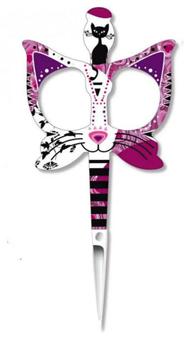 BOHIN FANCY CATS EMBROIDERY SCISSORS-Pink Cats