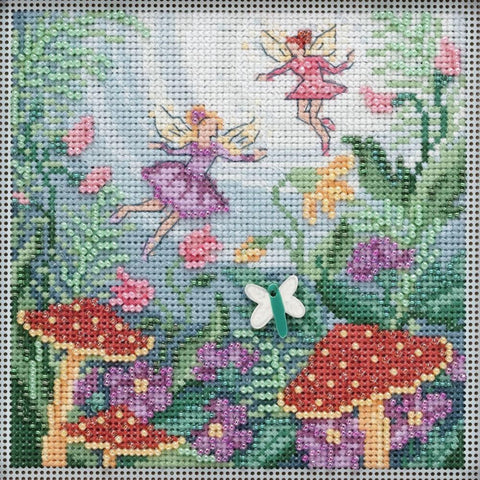 Fairy Garden Mill Hill Buttons & Beads Counted Cross Stitch Kit 5