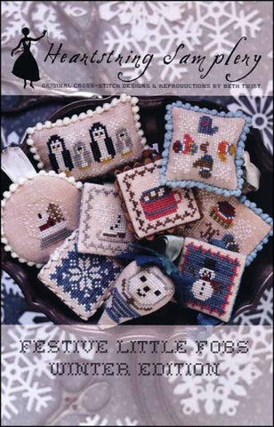 Festive Little Fobs Winter Edition by Heartstring Samplery Counted Cross Stitch Pattern